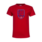 Youth Red T Shirt-Soccer Design 2