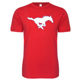 Next Level SoftStyle Red T Shirt-Secondary Mark