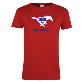 Ladies Red T Shirt-Waterpolo