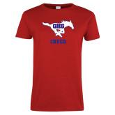Ladies Red T Shirt-Cheer