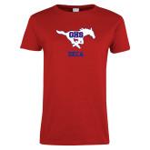 Ladies Red T Shirt-DECA