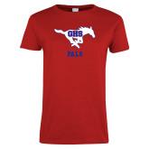 Ladies Red T Shirt-PALS