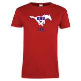 Ladies Red T Shirt-FFA