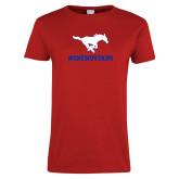 Ladies Red T Shirt-ONEMUSTANG