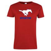 Ladies Red T Shirt-FIGHTON