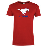 Ladies Red T Shirt-TEAM99