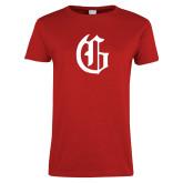 Ladies Red T Shirt-Old English G