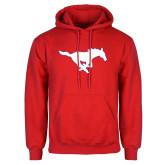 Red Fleece Hoodie-Secondary Mark