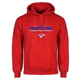 Red Fleece Hoodie-Basketball Design 1