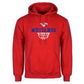 Red Fleece Hoodie-Basketball Design 2