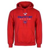 Red Fleece Hoodie-Soccer Design 1