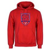 Red Fleece Hoodie-Soccer Design 2