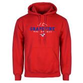 Red Fleece Hoodie-Volleyball Design 1