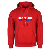 Red Fleece Hoodie-Volleyball Design 2