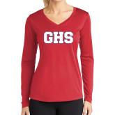 Ladies Syntrel Performance Red Longsleeve Shirt-GPV