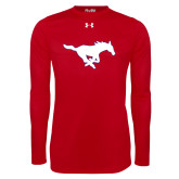 Under Armour Red Long Sleeve Tech Tee-Secondary Mark