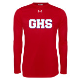 Under Armour Red Long Sleeve Tech Tee-GPV