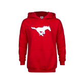 Youth Red Fleece Hoodie-Secondary Mark
