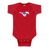Red Infant Onesie-Primary Mark