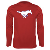 Performance Red Longsleeve Shirt-Secondary Mark