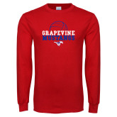 Red Long Sleeve T Shirt-Volleyball Design 2