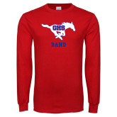Red Long Sleeve T Shirt-Band