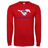 Red Long Sleeve T Shirt-Waterpolo