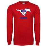 Red Long Sleeve T Shirt-Cheer
