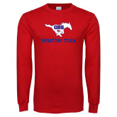 Red Long Sleeve T Shirt-Shooting Team