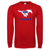 Red Long Sleeve T Shirt-Yearbook