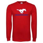 Red Long Sleeve T Shirt-RUNNINMUSTANG