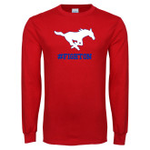 Red Long Sleeve T Shirt-FIGHTON