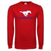 Red Long Sleeve T Shirt-MUSTANGNATION