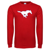 Red Long Sleeve T Shirt-Secondary Mark