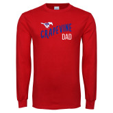 Red Long Sleeve T Shirt-Dad Design