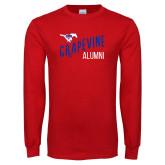 Red Long Sleeve T Shirt-Alumni Design