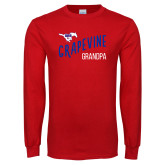 Red Long Sleeve T Shirt-Grandpa Design