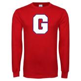 Red Long Sleeve T Shirt-G