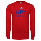 Red Long Sleeve T Shirt-Stacked Grapevine HS Design