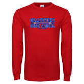 Red Long Sleeve T Shirt-Tri Color Design
