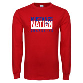 Red Long Sleeve T Shirt-Mustangs Nation