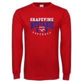Red Long Sleeve T Shirt-Football Design 3