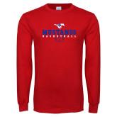 Red Long Sleeve T Shirt-Basketball Design 3