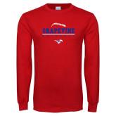 Red Long Sleeve T Shirt-Baseball Design 1
