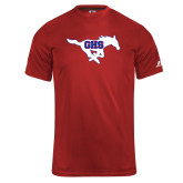 Russell Core Performance Red Tee-Primary Mark