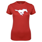 Ladies Syntrel Performance Red Tee-Secondary Mark