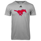 Adidas Climalite Sport Grey Ultimate Performance Tee-Secondary Mark