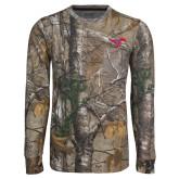 Realtree Camo Long Sleeve T Shirt w/Pocket-Primary Mark