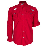 Columbia Bahama II Red Long Sleeve Shirt-Secondary Mark