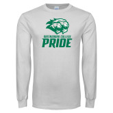 White Long Sleeve T Shirt-GC Pride Lions